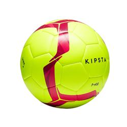 Voetbal F100 hybride maat 4 geel/roze
