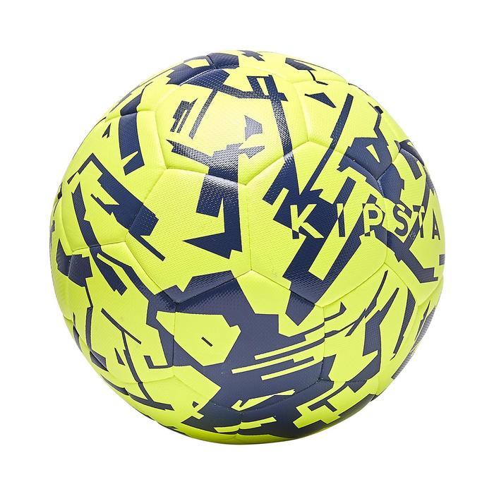 Balón de fútbol híbrido F100 light talla 5 graphic amarillo azul