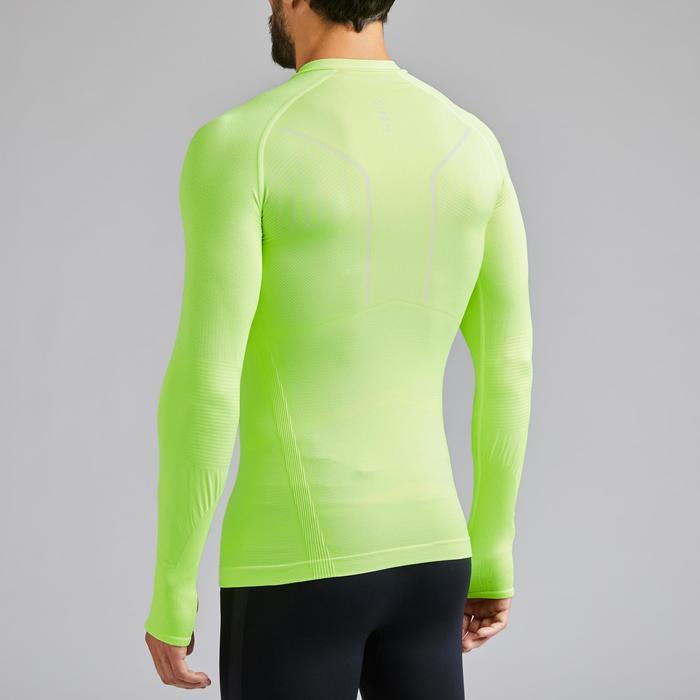 Camiseta Térmica Kipsta Keepdry 500 adulto amarillo fluo