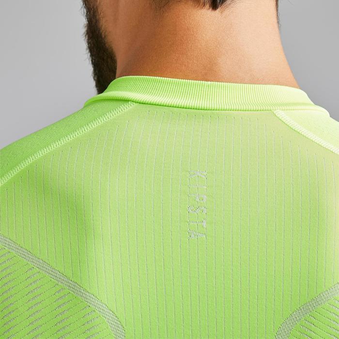 Thermoshirt Keepdry 500 lange mouw fluogeel unisex
