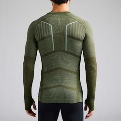 Funktionsshirt langarm Keepdry 500 atmungaktiv Erwachsene khaki