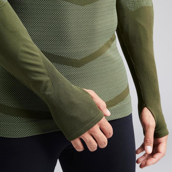Thermoshirt Keepdry 500 lange mouw kaki