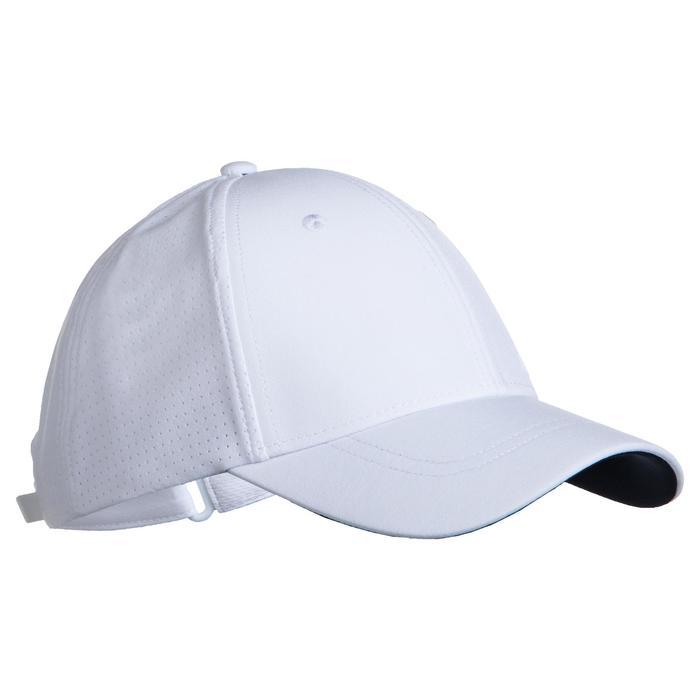 網球帽TC 900 56 cm-白色及海軍藍配色