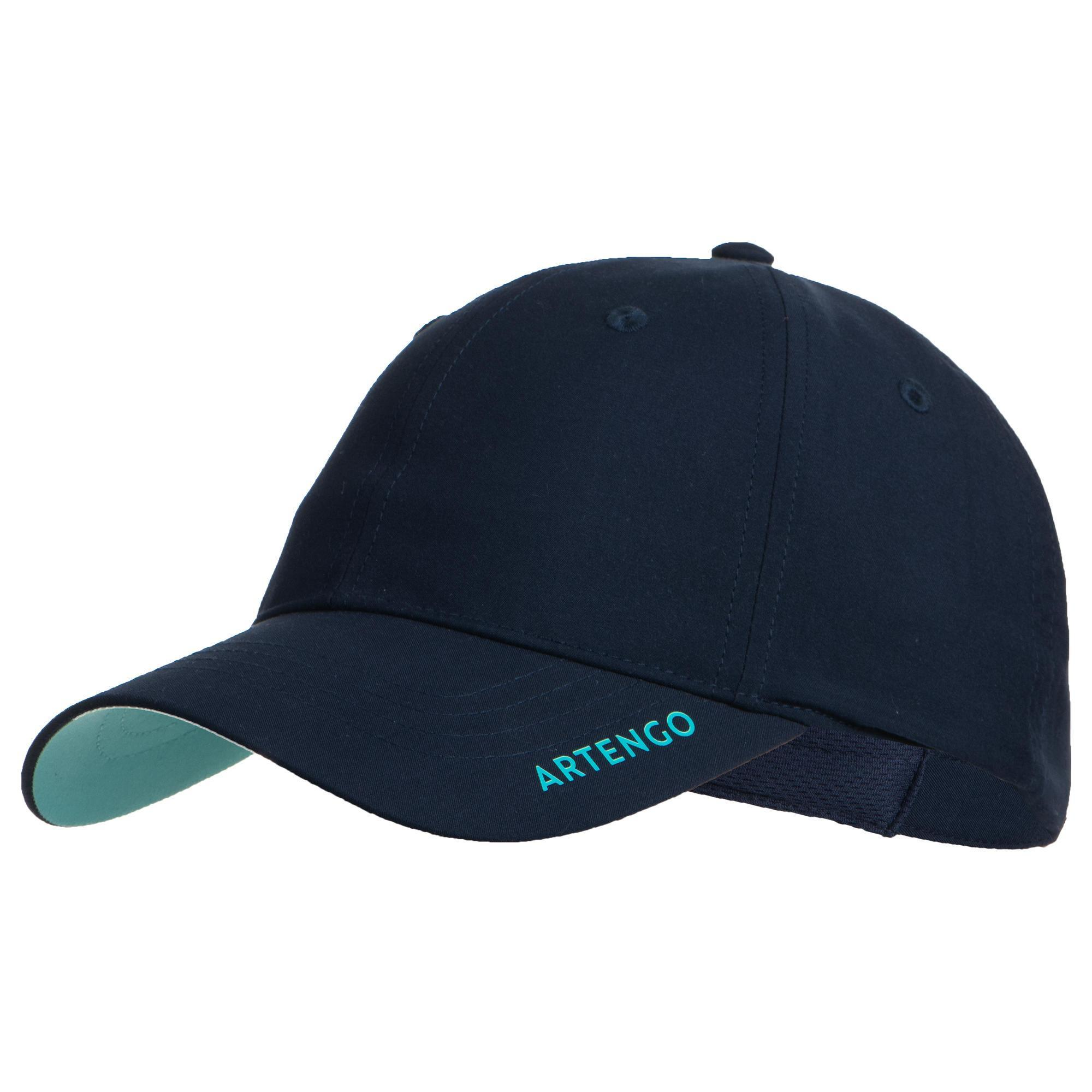 Schirmmütze Tennis-Cap TC 500 Gr.56 marineblau/türkis