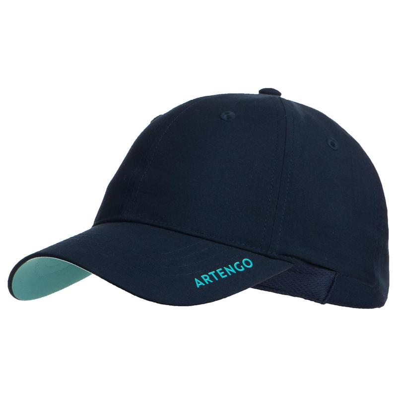 Tennispet TC 500 marineblauw/turquoise maat 56