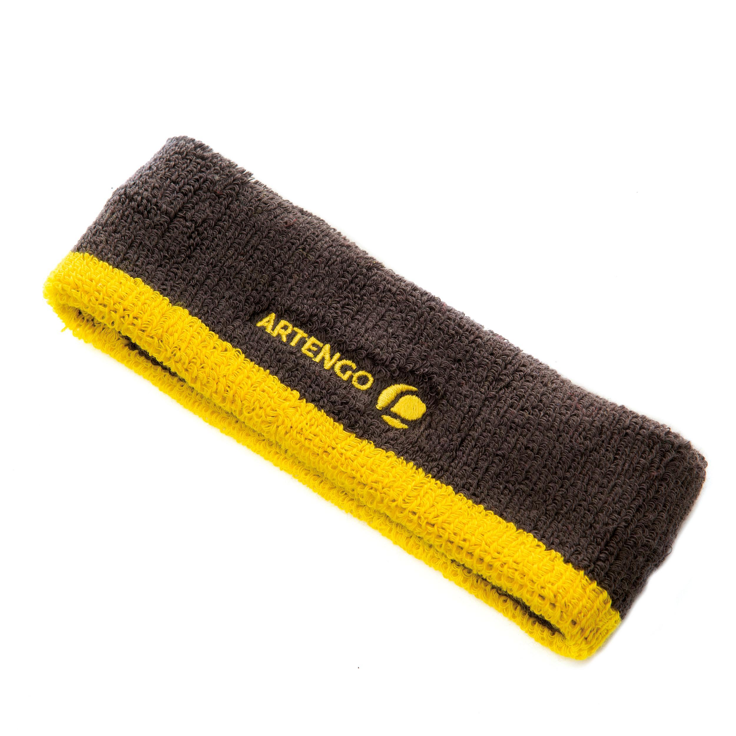 Headband - Grey/Yellow