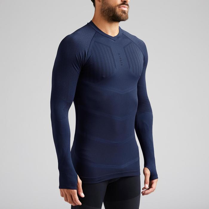 Ondershirt voor volwassenen Keepdry 500 donkerblauw