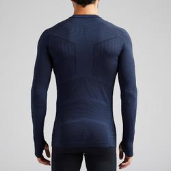 Thermoshirt Keepdry 500 lange mouw donkerblauw