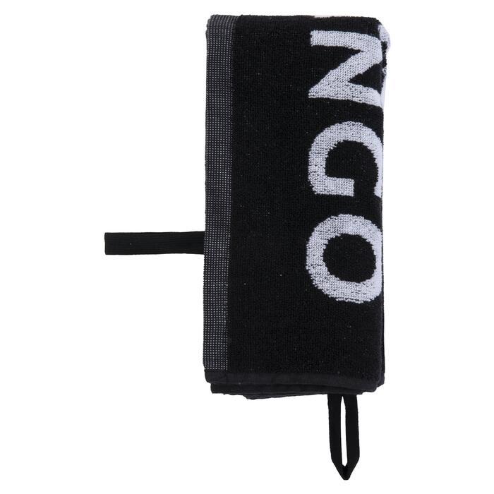 網球毛巾TS 100-黑白配色