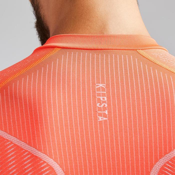 Ondershirt voor voetbal volwassenen Keepdry 500 oranje