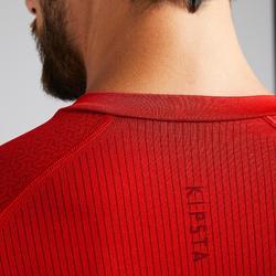 Thermoshirt Keepdry 500 lange mouw rood unisex