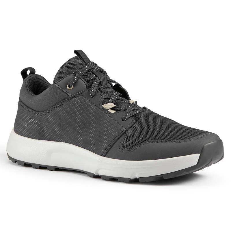 SKOR VANDRING I NATUREN, HERR Herrskor - Vandringssko NH150 svart QUECHUA - Typ av sko