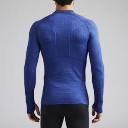 Thermoshirt Keepdry 500 lange mouw gemêleerd blauw