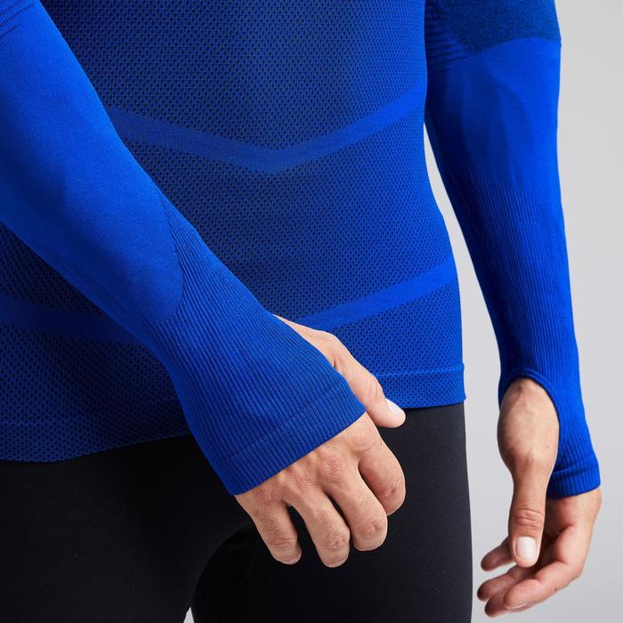 Funktionsshirt lang Keepdry 500 atmungsaktiv Erwachsene indigoblau