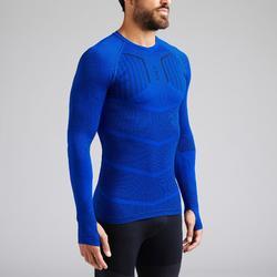 Thermoshirt Keepdry 500 lange mouw indigoblauw