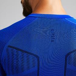 Thermoshirt Keepdry 500 lange mouw indigoblauw unisex