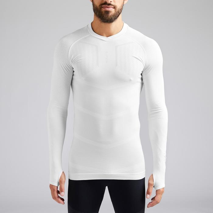 Thermoshirt Keepdry 500 lange mouw wit unisex