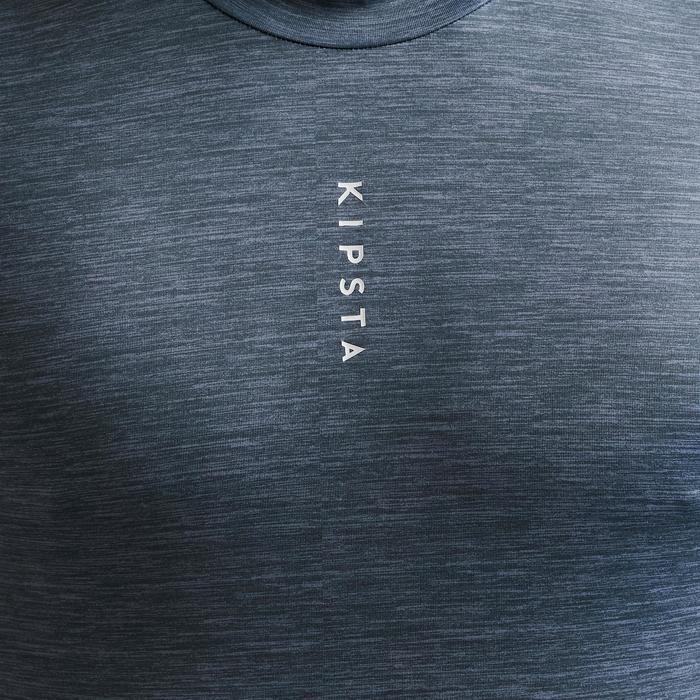 Ondershirt voor voetbal volwassenen Keepdry 100 gemêleerd grijs