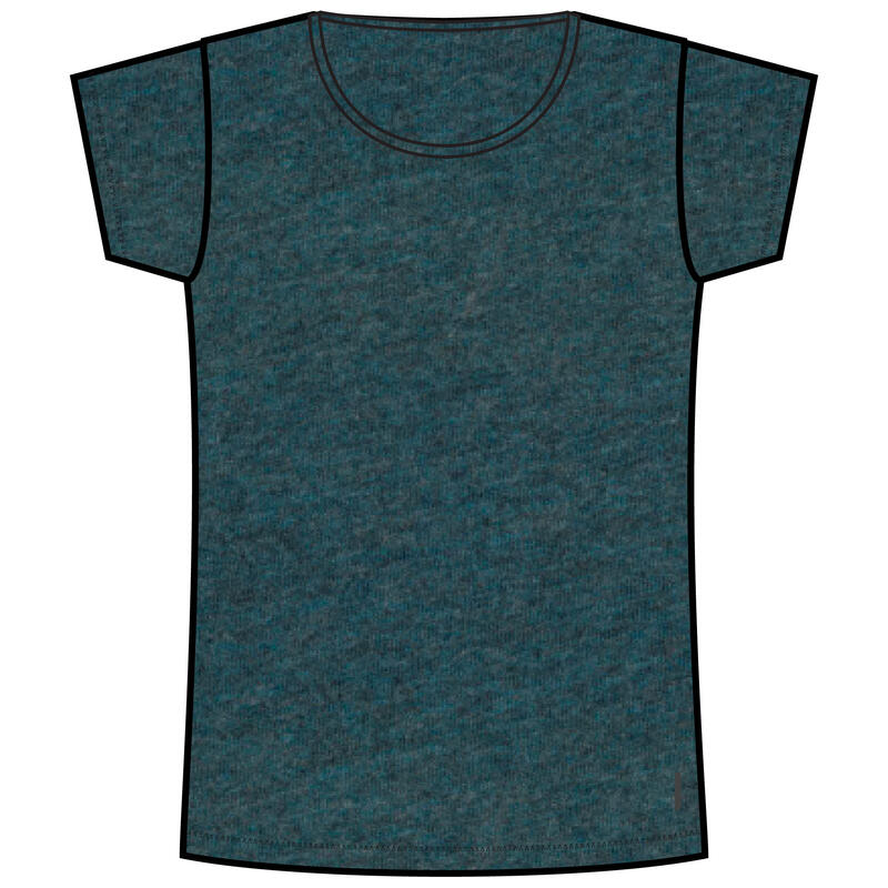 Stretchy Cotton Fitness T-Shirt - Mottled Dark Blue