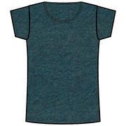Women's Gym T-Shirt Regular-Fit 500 - Mottled Dark Blue