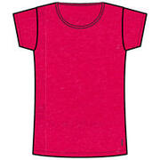 Women's Gym T-Shirt Regular-Fit 500 - Mottled Pink