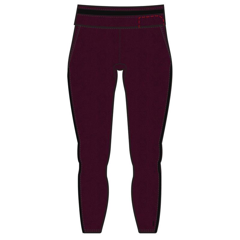 Legging 7/8 Coton Extensible Fitness court Bordeaux