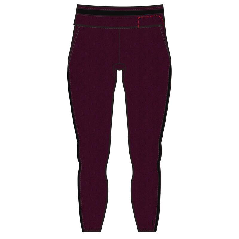 Stretchy 7/8 Cotton Fitness Leggings - Burgundy
