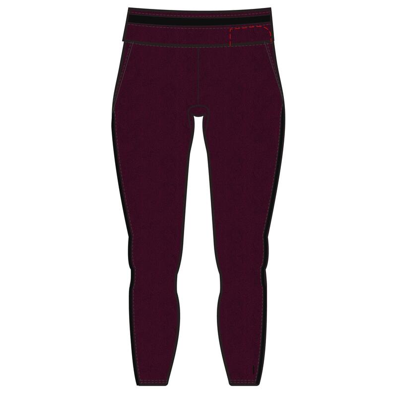 Legging 7/8 Coton Extensible Fitness court Bordeaux