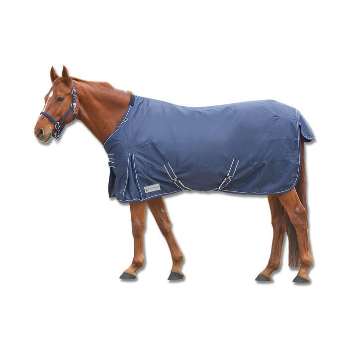 Regendecke wasserdicht 50g Pferd Waldhausen marineblau