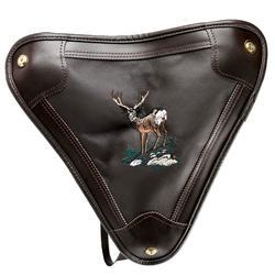 Banco de caza bordado jabali, perdiz o ciervo caza mayor rodatex piel madera