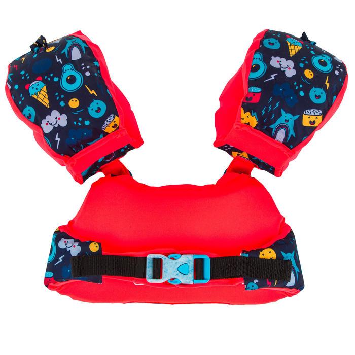 Brassards-ceinture de natation évolutif TISWIM enfant bleu foncé imprimé