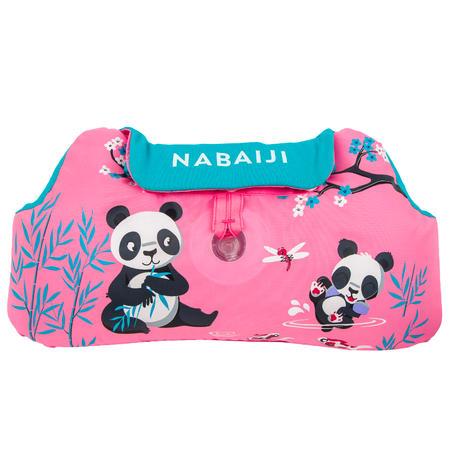 "Kids TISWIM adjustable pool armbands-waistband ""PANDAS"" - Pink"
