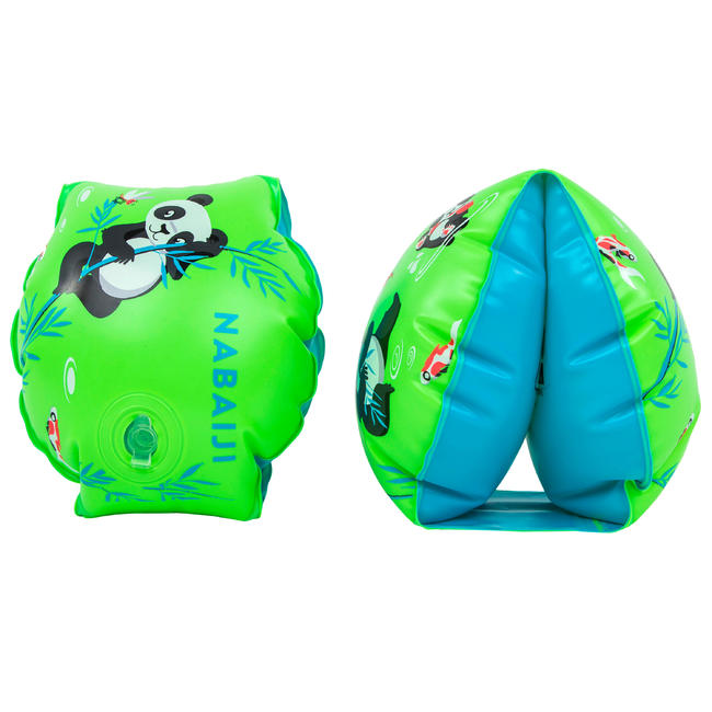 Kids Swimming Armbands for 11-30 Kg - Green