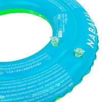 Круг надувной для бассейна 51 см для детей 3–6 лет зеленый с принтом «ПАНДЫ»