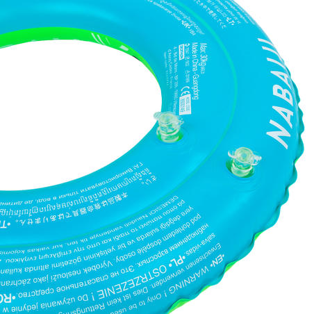 "Swimming inflatable 51 cm pool ring for kids aged 3-6 - Green ""PANDAS"" print"