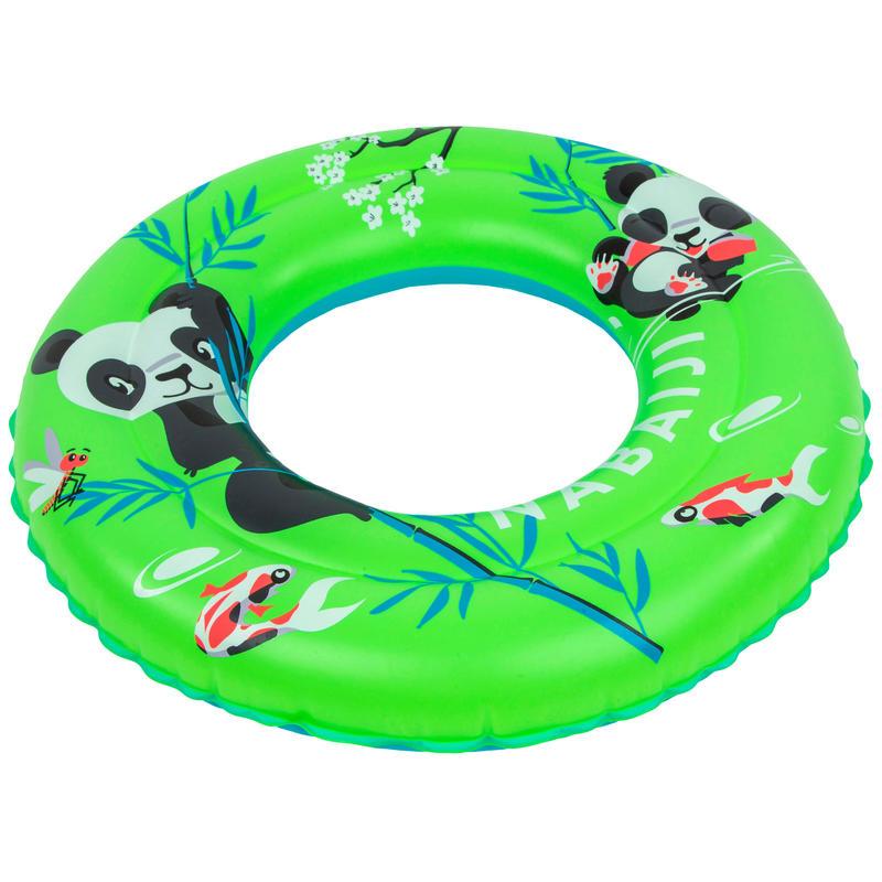 Flotador Natación Niños 3-6 Años Verde Estampado Panda Inflable 51cm