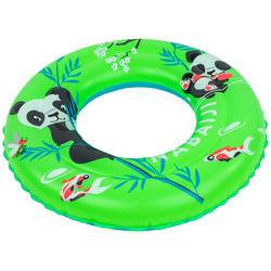 Opblaasbare zwemband 51 cm groen met pandaprint voor kinderen 3-6 jaar