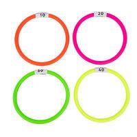 4 кольца водных утяжеленных разноцветных