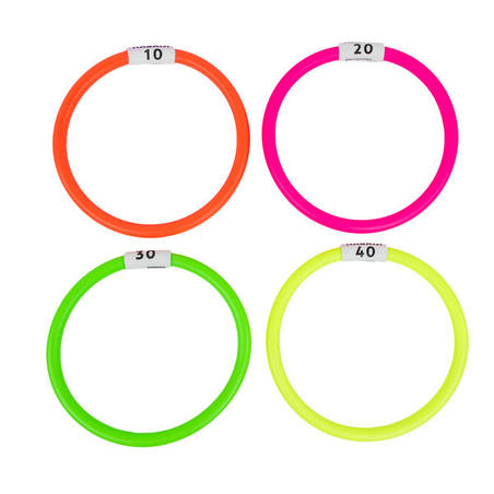 4 weighted aquatic rings multi colours