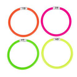 Duikspeelgoed opduikringen 4 stuks diverse kleuren