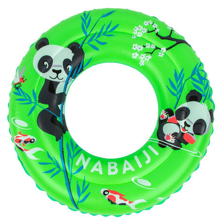 """Swimming inflatable 51 cm pool ring for kids aged 3-6 - Green """"PANDAS"""" print"""