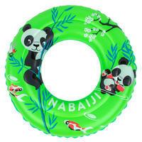 Flotador inflable Natación Niño 3-6 Años Verde Estampado Panda 51cm