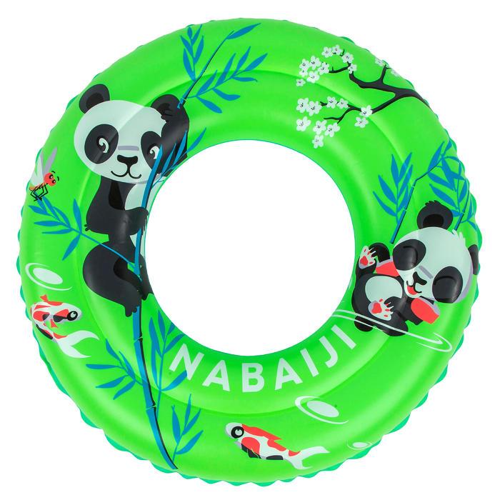"""Bouée piscine gonflable 51 cm vert imprimé """"PANDAS"""" pour enfant 3-6 ans"""