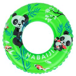 "Inflatable swimming buoy 51cm Green printed ""PANDAS""for children from age 3 to 6"