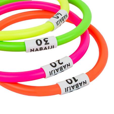 4 aros Acuáticos Lastre Multicolores