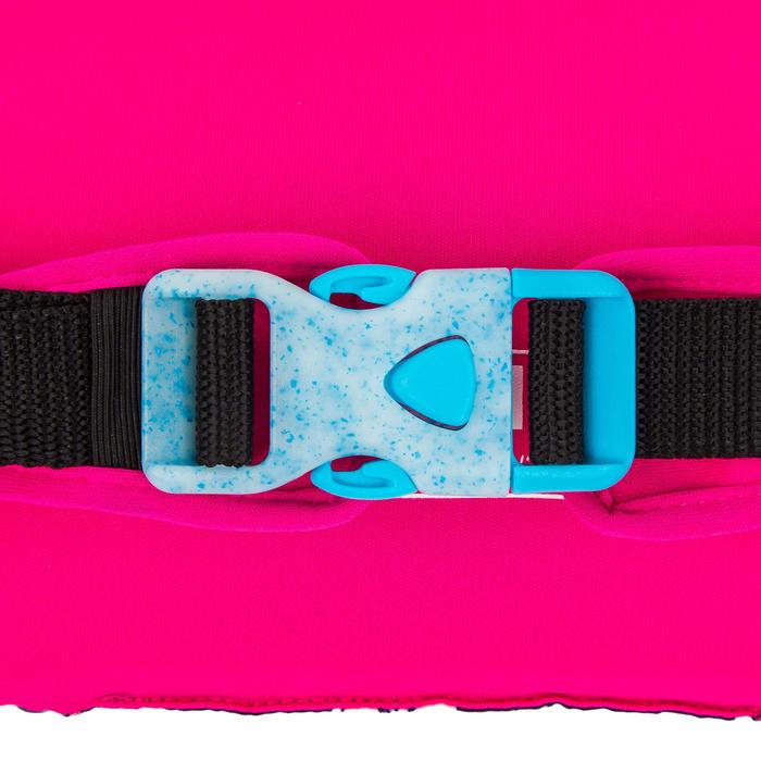 "Brassards-ceinture piscine évolutif TISWIM enfant bleu motif ""FLEURS"""