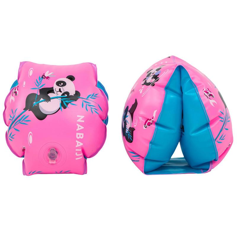 """Braçadeiras de natação estampado """"PANDAS"""" criança 11-30 kg"""
