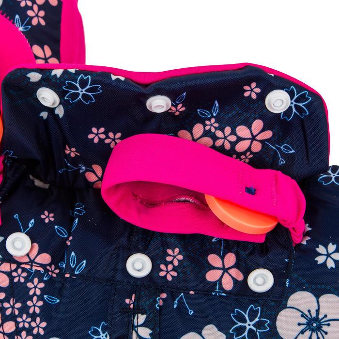 """Brassards-ceinture de natation évolutif TISWIM enfant bleu imprimé """"FLEURS"""""""