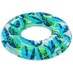 Boia insuflável de piscina 65 cm transparente verde/azul criança 6-9 anos