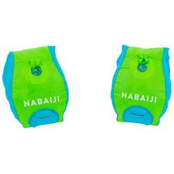 兒童漸進式游泳臂圈-腰帶TISWIM - 綠色「熊貓」印花